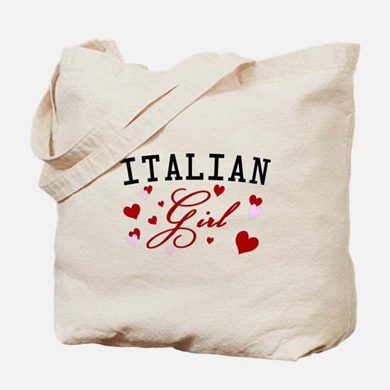 Italian Girl Tote Bag