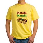 Mangia Mangia Italian Yellow T-Shirt