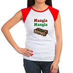 Mangia Mangia Italian Women's Cap Sleeve T-Shirt