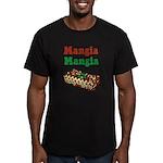 Mangia Mangia Italian Men's Fitted T-Shirt (dark)
