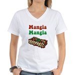 Mangia Mangia Italian Women's V-Neck T-Shirt