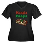 Mangia Mangia Italian Women's Plus Size V-Neck Dar