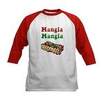 Mangia Mangia Italian Kids Baseball Jersey