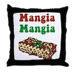 Mangia Mangia Italian Throw Pillow