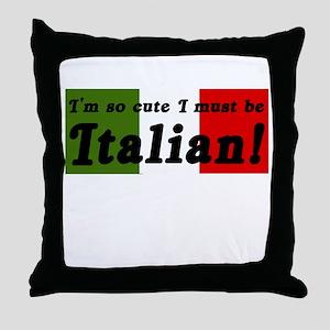 Cute Italian Throw Pillow