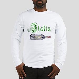 Italian Wine Bottle Vintage Long Sleeve T-Shirt
