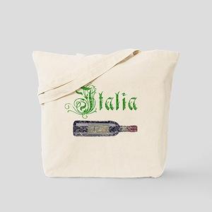 Italian Wine Bottle Vintage Tote Bag