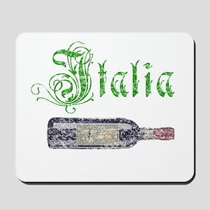Italian Wine Bottle Vintage Mousepad