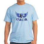 Italy Blue Skull Light T-Shirt