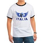Italy Blue Skull Ringer T