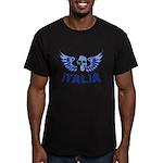Italy Blue Skull Men's Fitted T-Shirt (dark)