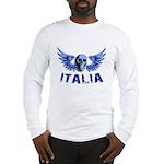 Italy Blue Skull Long Sleeve T-Shirt