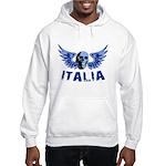 Italy Blue Skull Hooded Sweatshirt