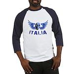 Italy Blue Skull Baseball Jersey