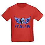 Italy Blue Skull Kids Dark T-Shirt