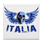 Italy Blue Skull Tile Coaster