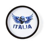 Italy Blue Skull Wall Clock