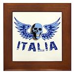 Italy Blue Skull Framed Tile
