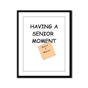 Senior Moment Framed Panel Print