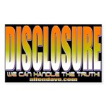 UFO Disclosure Project Rectangle Sticker