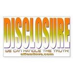 Disclosure Project (orange) Rectangle Sticker