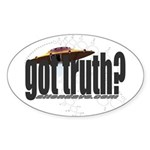 got truth? (cropcircle) Oval Sticker