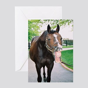 A.P. INDY Greeting Card