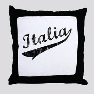 Italia Vintage Baseball Throw Pillow