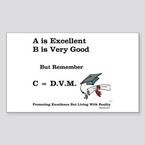 C=DVM Rectangle Sticker