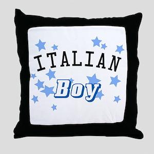 Italian Boy Throw Pillow