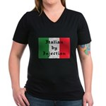 Italian by Injection Women's V-Neck Dark T-Shirt