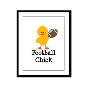 Football Chick Framed Panel Print