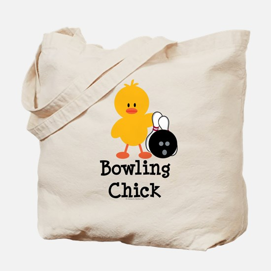 Bowling Chick Tote Bag