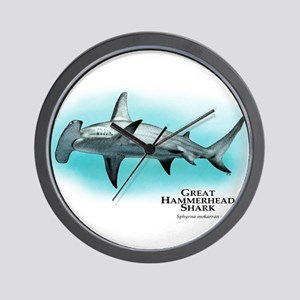Great Hammerhead Shark Wall Clock