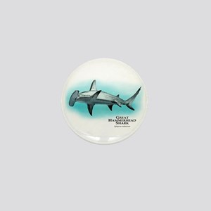 Great Hammerhead Shark Mini Button