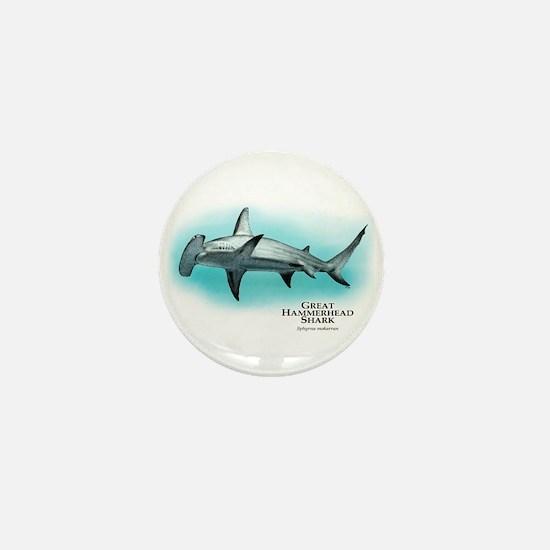 Great Hammerhead Shark Mini Button