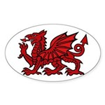 Midrealm red dragon Vinyl euro-style sticker