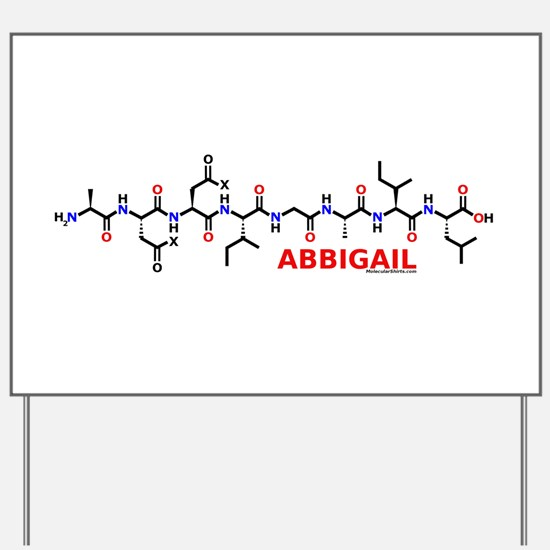 Abbigail name molecule Yard Sign