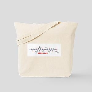 Abdullah name molecule Tote Bag