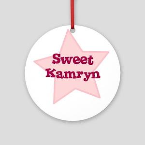 Sweet Kamryn Ornament (Round)
