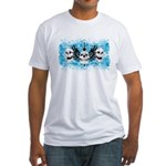 3 Skull Fitted T-Shirt