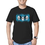 3 Skull Men's Fitted T-Shirt (dark)