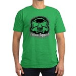 Spray Painted Skull Men's Fitted T-Shirt (dark)