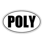 Poly Oval Sticker