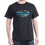 Grimm Apparel's Blue Logo Dark T-Shirt
