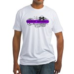 Grimm Apparel's Purple Logo Fitted T-Shirt