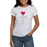 One Heart Love Umbrella2 Women's T-Shirt