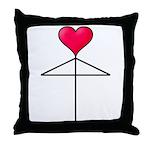 One Heart Love Umbrella2 Throw Pillow