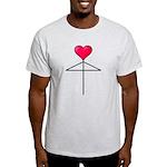 One Heart Love Umbrella2 Light T-Shirt
