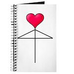 One Heart Love Umbrella2 Journal